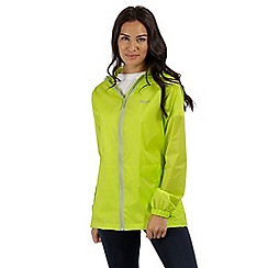 Regatta - Green 'pack it' waterproof jacket