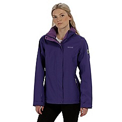 Regatta - Purple 'Calyn' stretch waterproof jacket