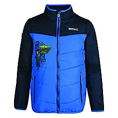 Regatta - Kids Blue 'Recharge' lightweight thunderbird jacket