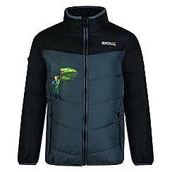 Regatta - Kids Black 'Recharge' lightweight thunderbird jacket