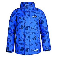 Regatta - Kids Blue 'Dozer' printed thunderbird jacket
