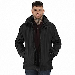 Regatta - Black 'Deansgate' 3 in 1 waterproof jacket