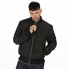 Regatta - Black 'Fallowfield' quilted bomber jacket