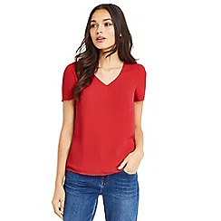 Oasis - Red petal sleeves t-shirt