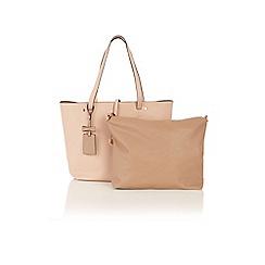 Oasis - Nude sunny shopper bag