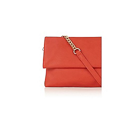 Oasis - Red orange foldover clutch