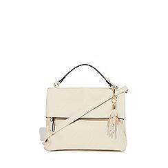 Oasis - Off white 'Freddie' foldover zip satchel