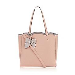 Oasis - Light camel 'Tina' scallop tote bag