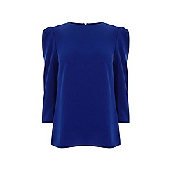 Oasis - Blue leg of mutton sleeve top