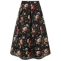 Oasis - Multi rose organza midi skirt