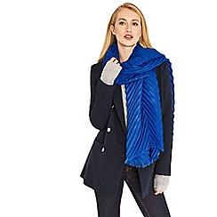 Oasis - Blue 'Sydney' crinkle scarf