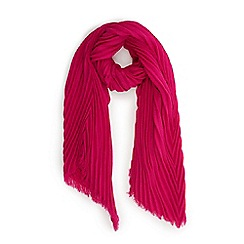 Oasis - Neon pink 'Sydney' crinkle scarf