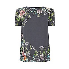 Oasis - Grey 'Adria' placement t-shirt