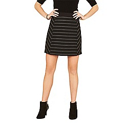 Oasis - Black stripe cutabout skirt