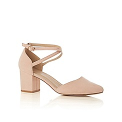 Oasis - Nude 'Ruth' block heels