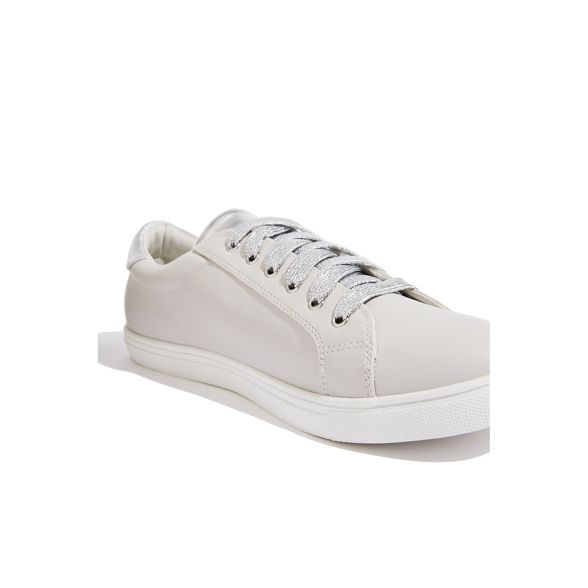 Mid grey Oasis metallic trainers patched Z17BnU