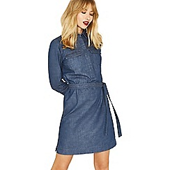 Oasis - Blue denim claudia shirt dress