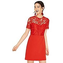 Oasis - Orange lace bodice shift dress