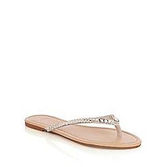 Oasis - Silver 'Suzy' sparkle toe posts