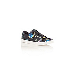 Oasis - Navy flower press trainers