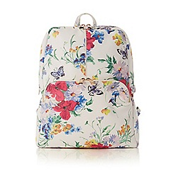 Oasis - Multi floral painted meadow backpack