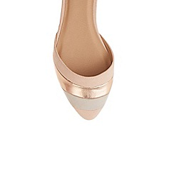 Oasis - Nude 'Serena' stripe 2 part flat shoes