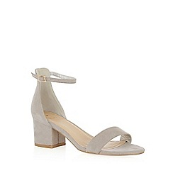 Oasis - Grey 'Jane' block sandals