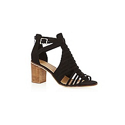 Oasis - Black 'Millie' strap heeled sandals
