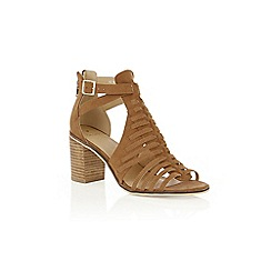 Oasis - Tan 'Millie' strap heeled sandals