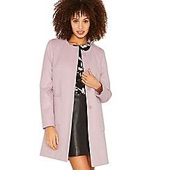 Oasis - Lilac collarless coat