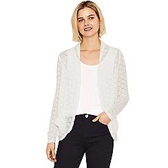 Oasis - Off white lace drape cardigan