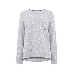 Oasis - Grey hummingbird foil sweatshirt