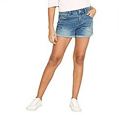 Oasis - Denim 'Abigail' rip and repair shorts