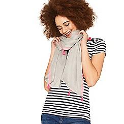 Oasis - Mid grey tassel scarf