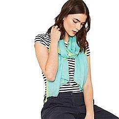 Oasis - Mid blue tassel scarf