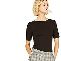 Oasis - Black short sleeve boatneck t-shirt