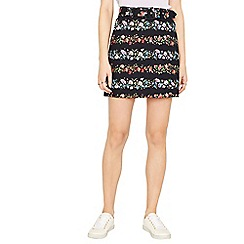 Oasis - Multi ditsy textured mini skirt