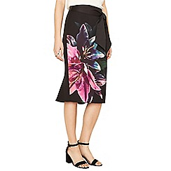 Oasis - Multi photographic lily pencil skirt