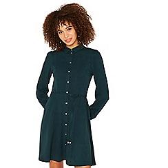 Oasis - Dark green skater shirt dress