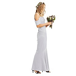 Oasis - Pale grey 'Amy' slinky cowl neck maxi dress