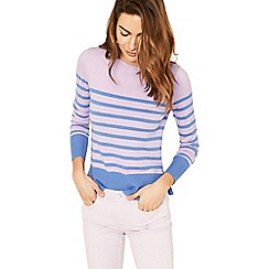 Oasis - Pink and blue stripe knit