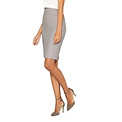 Oasis - Grey 'Camila' split detail suit skirt