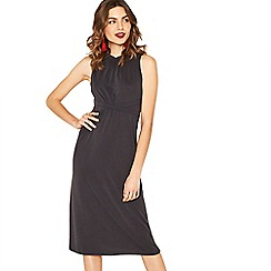 Oasis - Dark grey grecian midi dress
