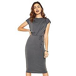 Oasis - Pale grey drape column dress
