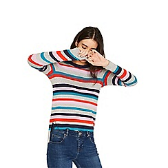Oasis - Grey rainbow stripe knit jumper