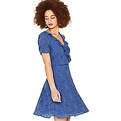 Oasis - Mid blue lace tea dress