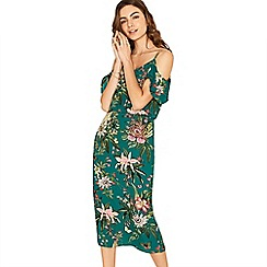 Oasis - Multi green secret garden midi dress