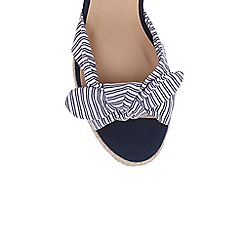 Oasis - Multi blue 'Stacy' stripe wedges
