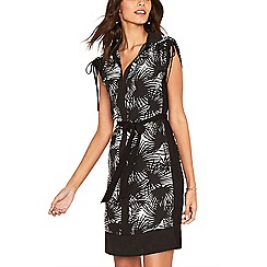 Oasis - Multi black 'Havanna' shirt dress