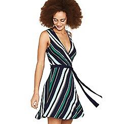 Oasis - Multi stripe wrap dress